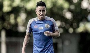 Christian Cueva no jugará en el Santos este año tras faltar a entrenamiento