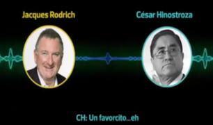 Audio vincula a Cesar Hinostroza con esposo de Cecilia Chacón