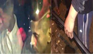 SJL: vecinos capturan a delincuentes que robaban casas con armas de guerra