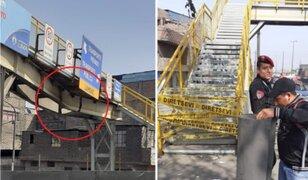 Rímac: restringen acceso a puente peatonal Castilla tras ser impactado por camión