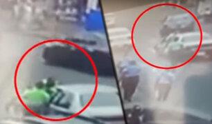 Breña: conductor arrastró a policía por más de 20 metros en la avenida Venezuela