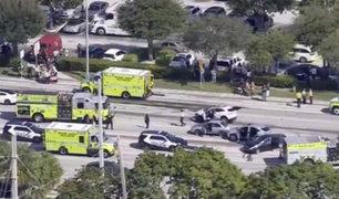 EEUU: nueve heridos dejó choque masivo en Miami