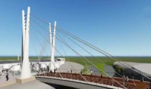 Peatones y ciclistas con gran expectativa por inauguración del 'Puente de la Amistad'