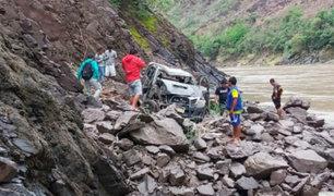 Amazonas: un muerto tras despiste y caída de camioneta a Río Marañón