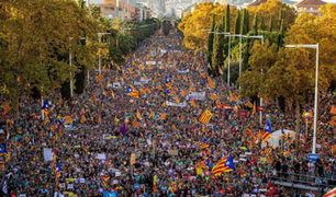 No cesan las multitudinarias protestas independentistas en España