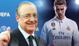 """Presidente del Real Madrid: """"Cristiano Ronaldo vuelve"""""""