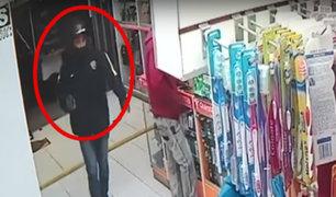 Cercado de Lima: delincuentes roban botica