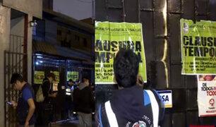 San Luis realiza operativo para clausurar bares donde se ejercía la prostitución