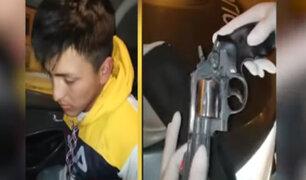 SJL: Escuadrón de Emergencia logra capturar a sujeto con arma robada