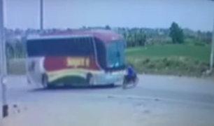 Cañete: motociclista pierde la vida tras ser embestido por bus interprovincial