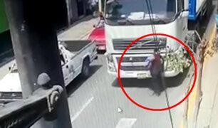 Ate: anciana fue arrollada por tráiler en la Carretera Central
