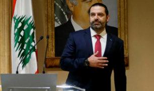 Líbano: primer ministro Hariri anuncia su dimisión tras 13 días de protestas