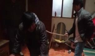 Cajamarca: ronderos castigan a ladrones que robaron celular