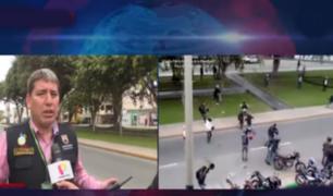 Surco: 14 detenidos tras enfrentamiento entre motociclistas por dominio de paradero