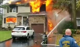 EEUU: avioneta se estrella contra vivienda en Nueva Jersey