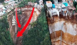 Guatemala: derrumbe de un talud arrasa con viviendas y un colegio