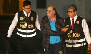 Edwin Donayre arribó al Ministerio del Interior tras ser capturado en Puente Piedra