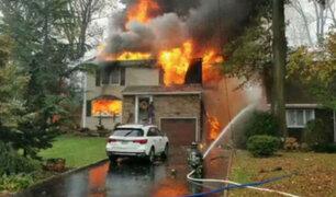 EEUU: muere piloto cuya avioneta se estrelló contra casa en Nueva Jersey