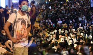 Hong Kong: se registran enfrentamientos entre manifestantes y la policía en noche de Halloween