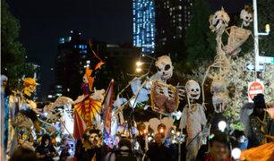 Nueva York: chicos y grandes disfrutaron del desfile de Greenwich Village por Halloween