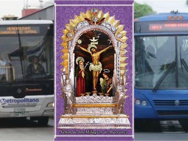 Señor de los Milagros: conoce los desvíos del Metropolitano y corredores por procesión