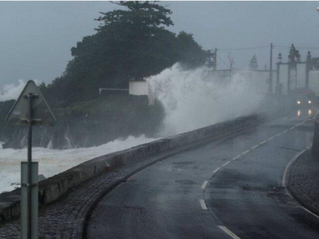 Portugal: huracán Lorenzo deja estragos en islas Azores