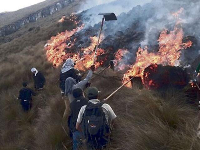 Logran extinguir incendios forestales en Puno, Apurímac, Cusco y Amazonas