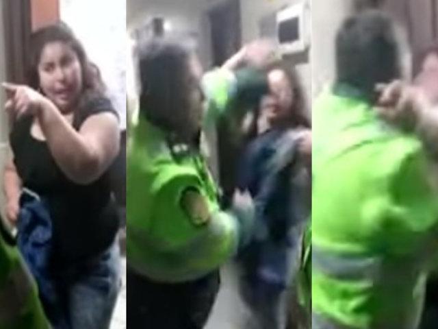 Ate Vitarte: mujer y policía se agreden mutuamente en comisaría