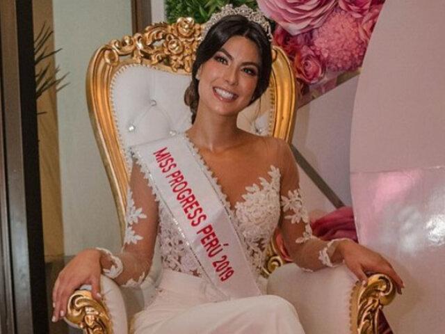 Ivana Yturbe fue hospitalizada de emergencia y se retira del Miss Progress International 2019