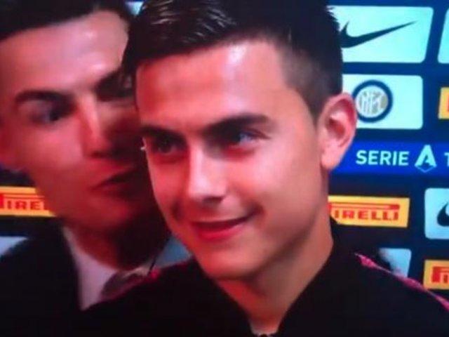 El curioso beso de Cristiano Ronaldo a Dybala