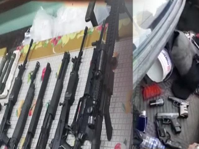 Incautan armas de largo alcance que estaban en poder de delincuentes