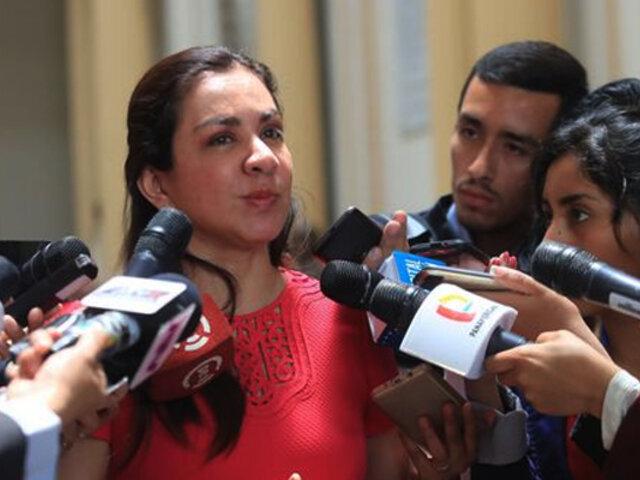 Marisol Espinoza presentó demanda de amparo contra Vizcarra por cierre del Congreso