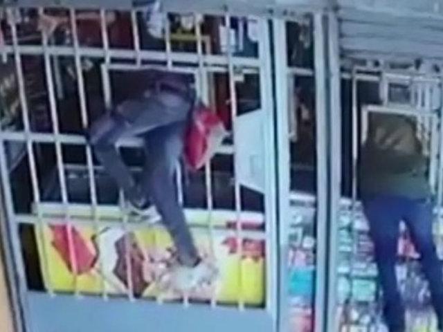 Delincuentes roban negocios en Chincha y Tarapoto