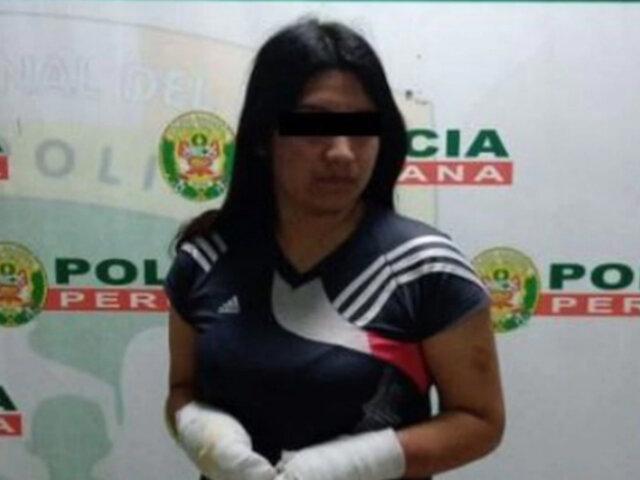 SMP: detienen a mujer acusada de rociar combustible a su pareja