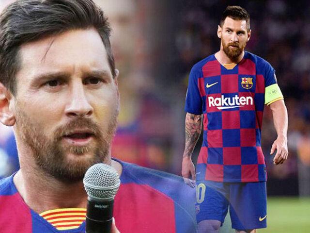 Lionel Messi admite que quiso dejar el Barcelona