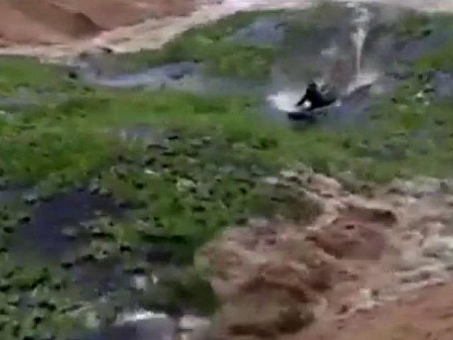 Brasil: deportista surfeó en lago durante fuerte temporal y desapareció