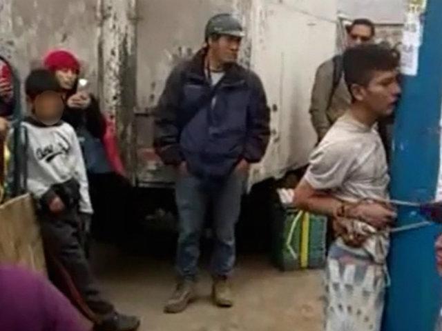 Carabayllo: enardecidos vecinos casi linchan a presunto ladrón