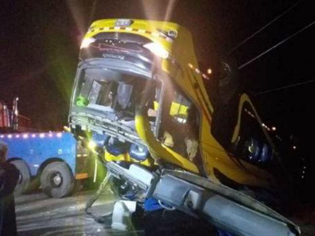 Tragedia en La Oroya: al menos 5 muertos y más de 20 heridos tras volcadura de bus