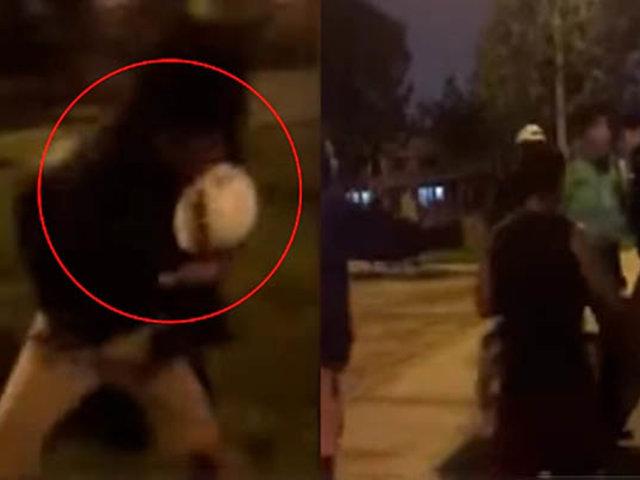 SMP: jóvenes ebrios agreden a policías en parque