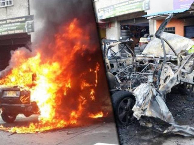 Colombia: vehículo que se incineró explotó frente a decena de testigos