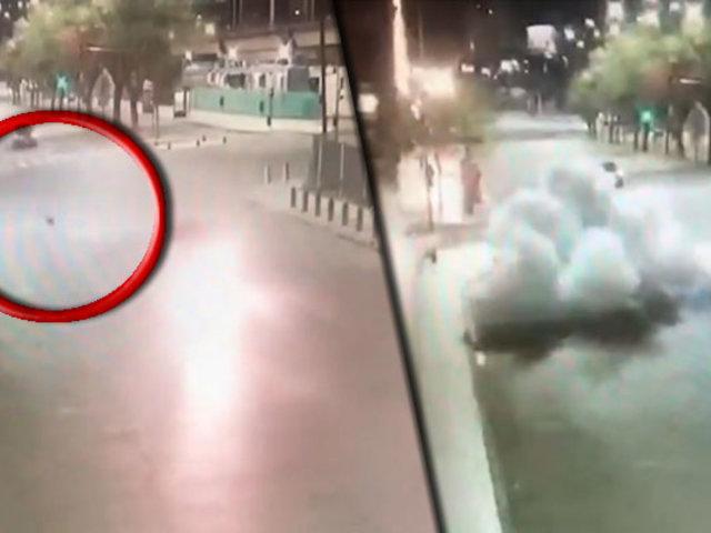 Delincuentes que escapaban de la policía arrojaron un artefacto explosivo en persecución