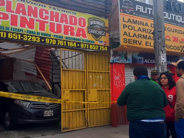 San Luis: hombre falleció por explosión de balón de gas en taller de mecánica