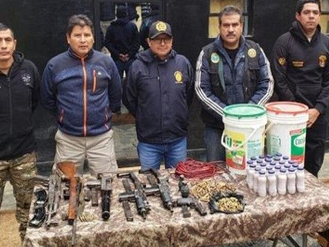 FF.AA intervienen almacén donde Sendero Luminoso escondía armas