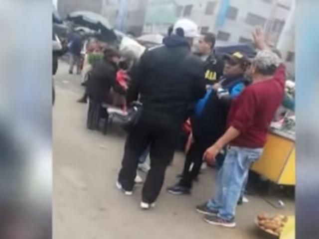 Mujeres comerciantes exigieron liberación de presuntos extorsionadores de Gamarra