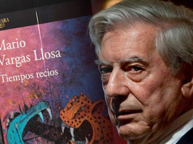 """Mario Vargas Llosa presenta su nueva novela """"Tiempos recios"""""""