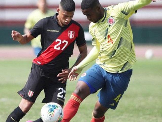 Selección peruana Sub 23: la Bicolor venció por 1-0 a Colombia