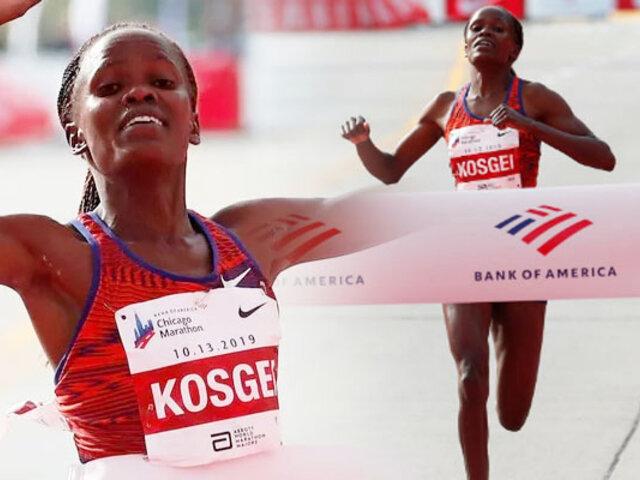 Keniata batió el récord del mundo de maratón