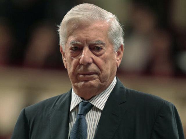 """Vargas Llosa: """"En mis 83 años no he visto un Parlamento que tuviera la mediocridad de este último"""""""