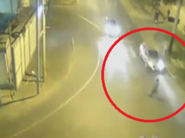 Tacna: peatón imprudente es embestido por taxi