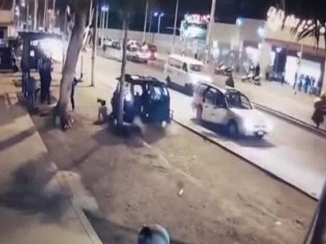 Cañete: menor salva de morir por choque de mototaxi contra auto